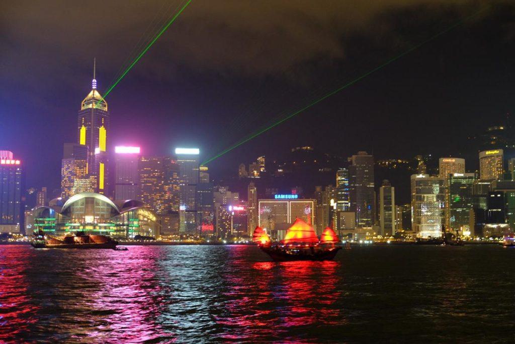 Pokaz świateł Hong Kong